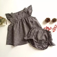 Fashion Summer Style DOT Baby Girl Clothes COTTON Clothing Set Baby Clothing