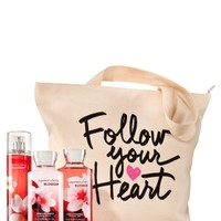 Follow Your Heart Tote Japanese Cherry Blossom