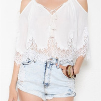 Key Lace White Top