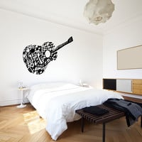 Vinyl Wall Decal Sticker Music Note Guitar #OS_MB918