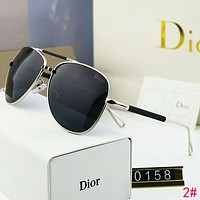 DIOR Popular Women Man Personality Summer Sun Shades Eyeglasses Glasses Sunglasses 2# Black I-A-SDYJ