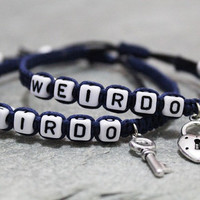 Weirdo Bracelets, Couples Bracelets,Boyfriend girlfriend jewelry,Anniversary gifts