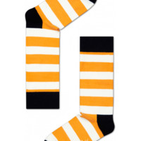 Stripe cool socks in orange/white for fun people at HappySocks.com