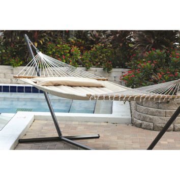 Smart Living Monte Carlo Premium Poly Two Person Fabric Quilted Hammock & Reviews | Wayfair