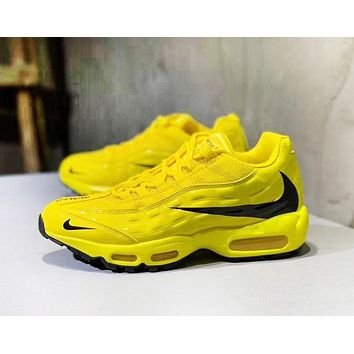NIKE Air Max 95 New fashion hook print running shoes Yellow