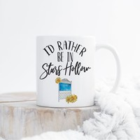 I'd Rather Be Mug, Gifts for Bibliophiles, Gifts for Readers, Bookish Mug, Reading Mug, Floral Mug, Bookstagram, Funny TV Show Mugs