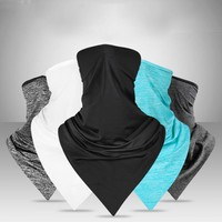 Cycling Bike Triangle Sport Scarf Ice Fabric Bicycle Breathable Bandanas Face Mask UV Protection Windproof Riding Masks For Men