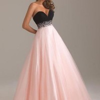 Homecoming Beaded A-line Tulle Quinceanera/Ball gown/Evening/Prom dress