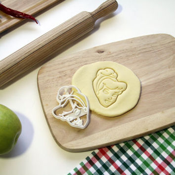 Cinderella Cookie Cutter Disney Cookie Cutter Cupcake topper Fondant Gingerbread Cutters - Made from Eco Friendly Material