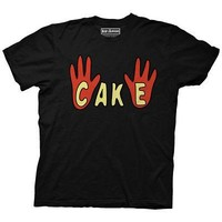 Bob's Burgers Paddycake Cake Hands Logo Licensed Adult T-Shirt - Black
