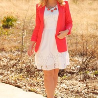 Change The World Blazer: Coral - What's New
