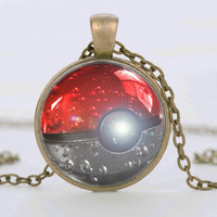 Pokemon Go Silver Collar Pendant Necklace