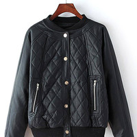 Diamond Quilted Leather Biker Jacket