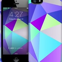 Purple Polygons iPhone by House of Jennifer | Nuvango