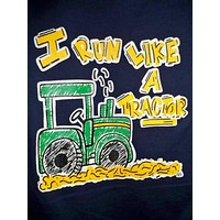 Southern Chaps Funny Run Like Tractor Boy Youth Kids Bright T Shirt