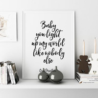 ONE DIRECTION Typography Art Song Lyrics Minimalist Poster One direction quote Living Room Decor Valentine's Poster Wall art Typographic Art