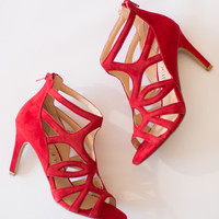 Alessa Red Strappy Heel