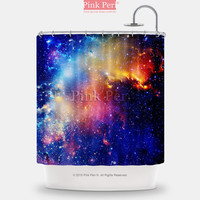 Colorful Galaxy Nebula Shower Curtain Free shipping Home & Living 052