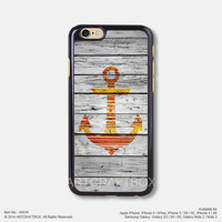 Red anchor on wood Free Shipping iPhone 6 6Plus case iPhone 5s case iPhone 5C case 036