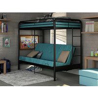 Walmart: Dorel Twin Over Futon Bunk Bed with set of 2 Mattress, Black