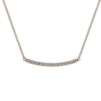 "Gabriel ""Indulgence"" Fixed Trapeze Bar Necklace"