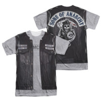 SONS OF ANARCHY UNHOLY COSTUME Short Sleeve 2 Sided T-Shirt 100% Polyester