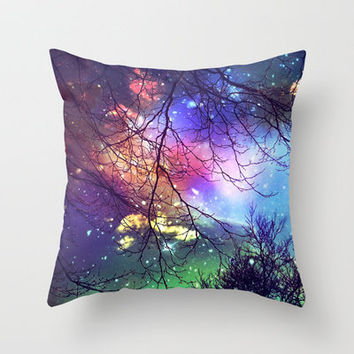 look to the stars Throw Pillow by Sylvia Cook Photography