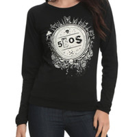5 Seconds Of Summer Crest Girls Pullover Top