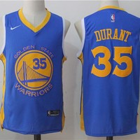 Best Sale Online Basketball Jersey Golden State Warriors # 35 Kevin Durant Blue