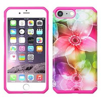 For Apple iPhone 8 Plus Case, Slim Hybrid Dual Layer[Shock/Impact Absorption] Case for iPhone 8 Plus - Lily Pedals
