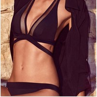 Summer Beach Swimsuit Hot New Arrival Swimwear Black Sexy Waterproof Bikini [8678840333]