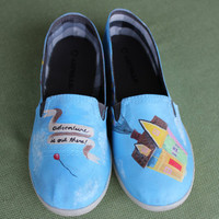 Custom-painted shoes
