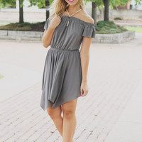 Send My Love Dress - Charcoal