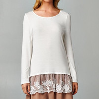 Lacey Bottom Tunic - Cream
