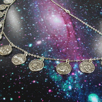 Astrology Necklace Zodiac Choker Horoscope Jewelry / Pastel Goth Horoscope Necklace / Pastel Grunge Constellation Chain Necklace Jewelry