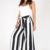 Lulu Striped High Waisted Pants
