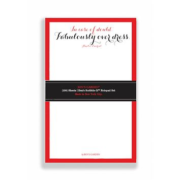 In Case Of Doubt Fabulously Scribble Notepad Set Of 3