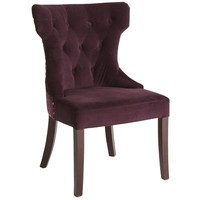 Hourglass Dining Chair - Purple Damask