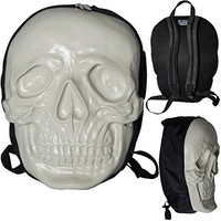 Unisex Kreepsville Skull Backpack Natural Glow