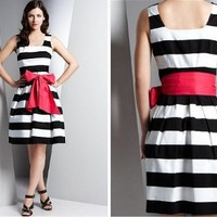 Retro To Go: Stripe Prom Dress from Marks and Spencer