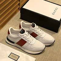 Gucci Men Fashion Boots fashionable Casual leather Breathable Sneakers Running Shoes-780