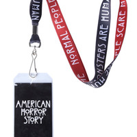 American Horror Story Red Black Lanyard