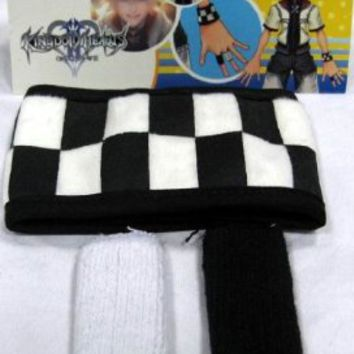 Kingdom Hearts: Roxas Checker Wristband & Finger Covers