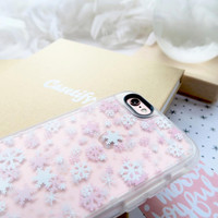 Beautiful iPhone 6s & 6s Plus Case (Snowflake - Pink Pattern) by Casetify