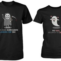 Funny Death Eater and Ghost Couple Shirts for Halloween