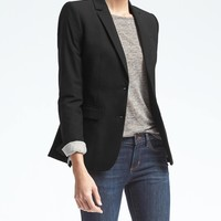Long and Lean-Fit Lightweight Wool Blazer | Banana Republic