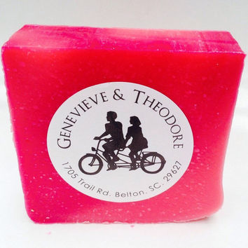 Raspberry SpearMint Best Hand-Crafted Luxury Soap/Soapie Shoppe Haywood Mall