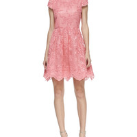 Women's Zenden Scallop Lace Dress - Alice + Olivia - Pink icing