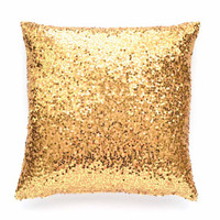 """Gold Throw Pillow Cover - Gold Sequin - 20"""" x 20"""" - Decorative Pillow, Gold Pillow, Sequin Throw Pillow, Pillow Cover"""
