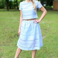 Luxe Life Two Piece Dress - Sky Blue